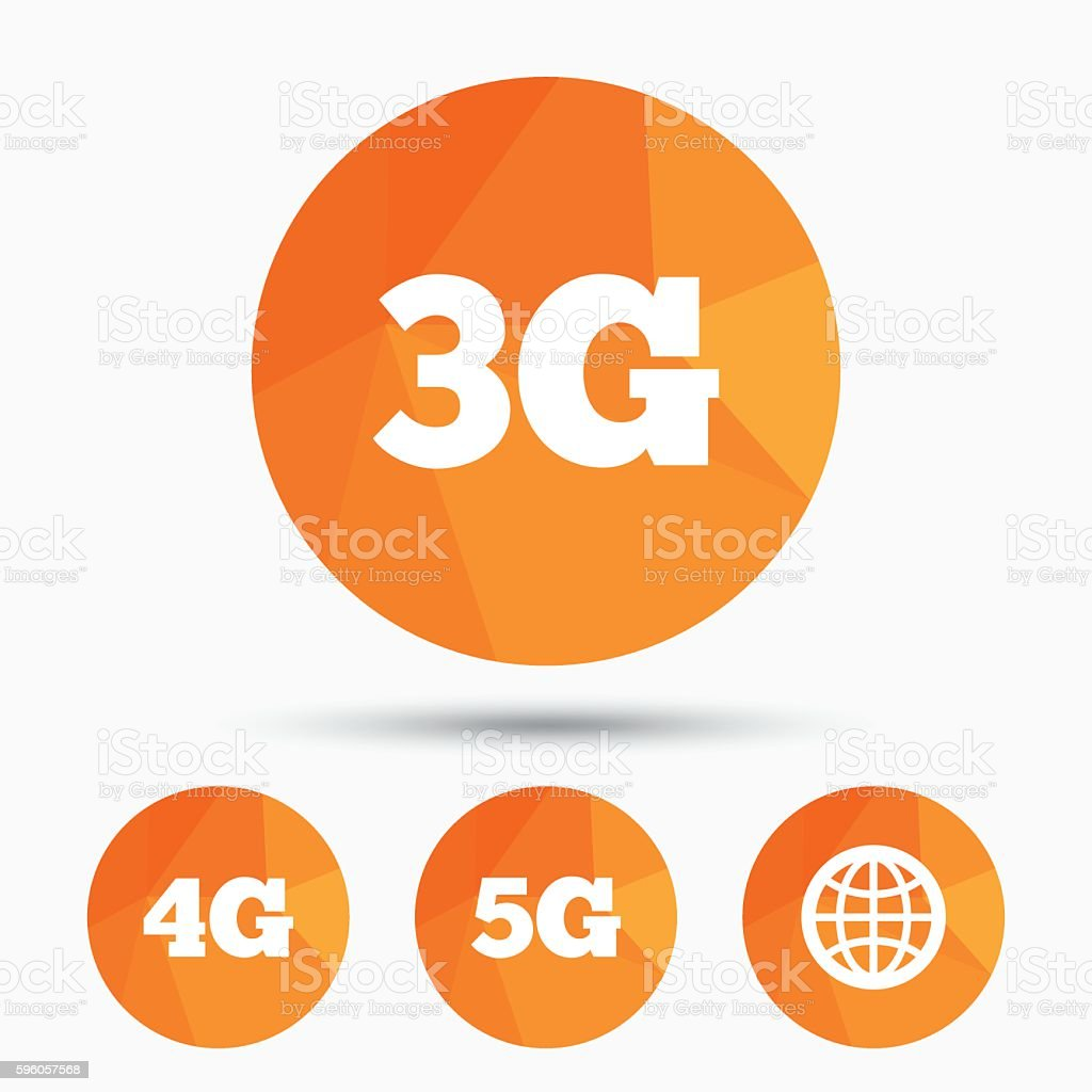 Mobile telecommunications icons. 3G, 4G and 5G. royalty-free mobile telecommunications icons 3g 4g and 5g stock vector art & more images of 3g