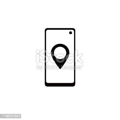istock Mobile Tracker Logo Template Design Vector 1190241547