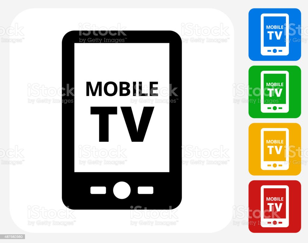 https://media.istockphoto.com/vectors/mobile-tv-icon-flat-graphic-design-vector-id487582560