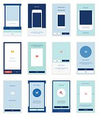 Mobile User Interface 35 Screens Wirefrme Kit for onboarding wizard