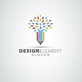 Pencil Tree Vector Design