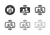 istock Mobile Video Call Icons - Multi Series 1215112322