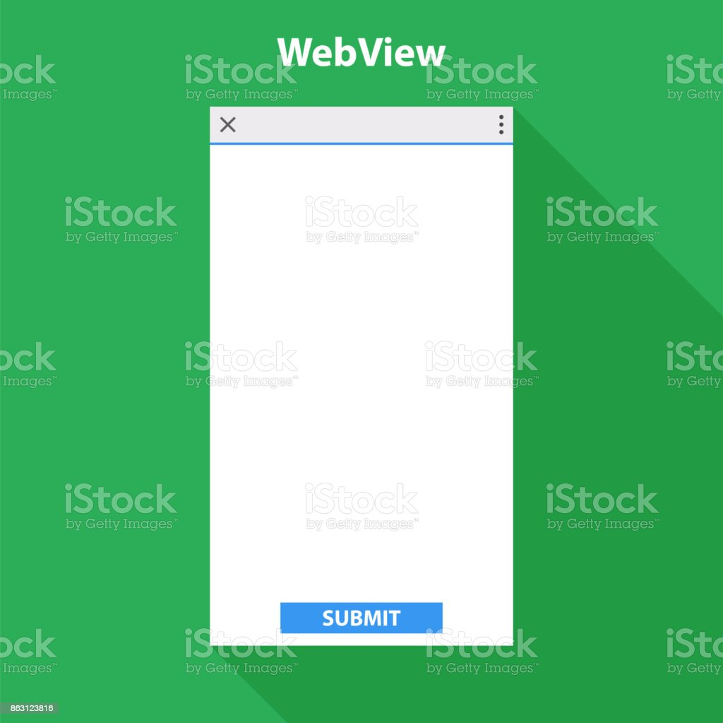 Mobile web view form for application.