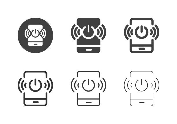 Mobile Wireless Technology Icons - Multi Series vector art illustration