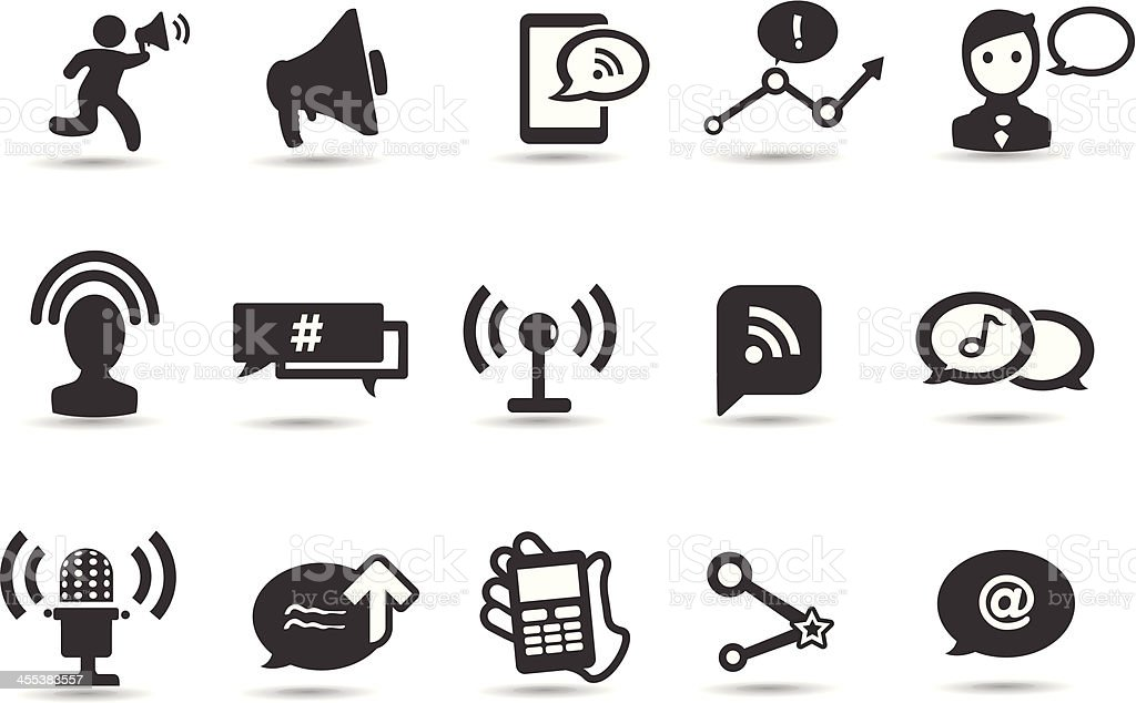 Mobilicious Communication Symbols royalty-free stock vector art