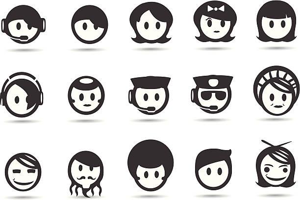 mobilicious 人とユーザーのアイコン - オペレーター 日本人点のイラスト素材/クリップアート素材/マンガ素材/アイコン素材