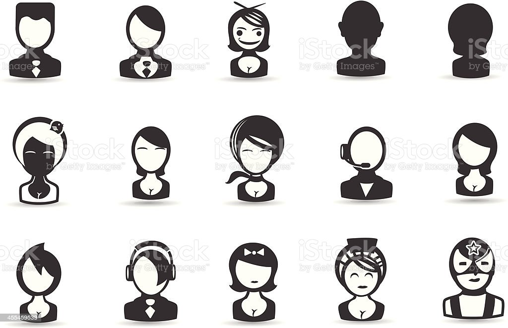 Mobilicious People Icons vector art illustration