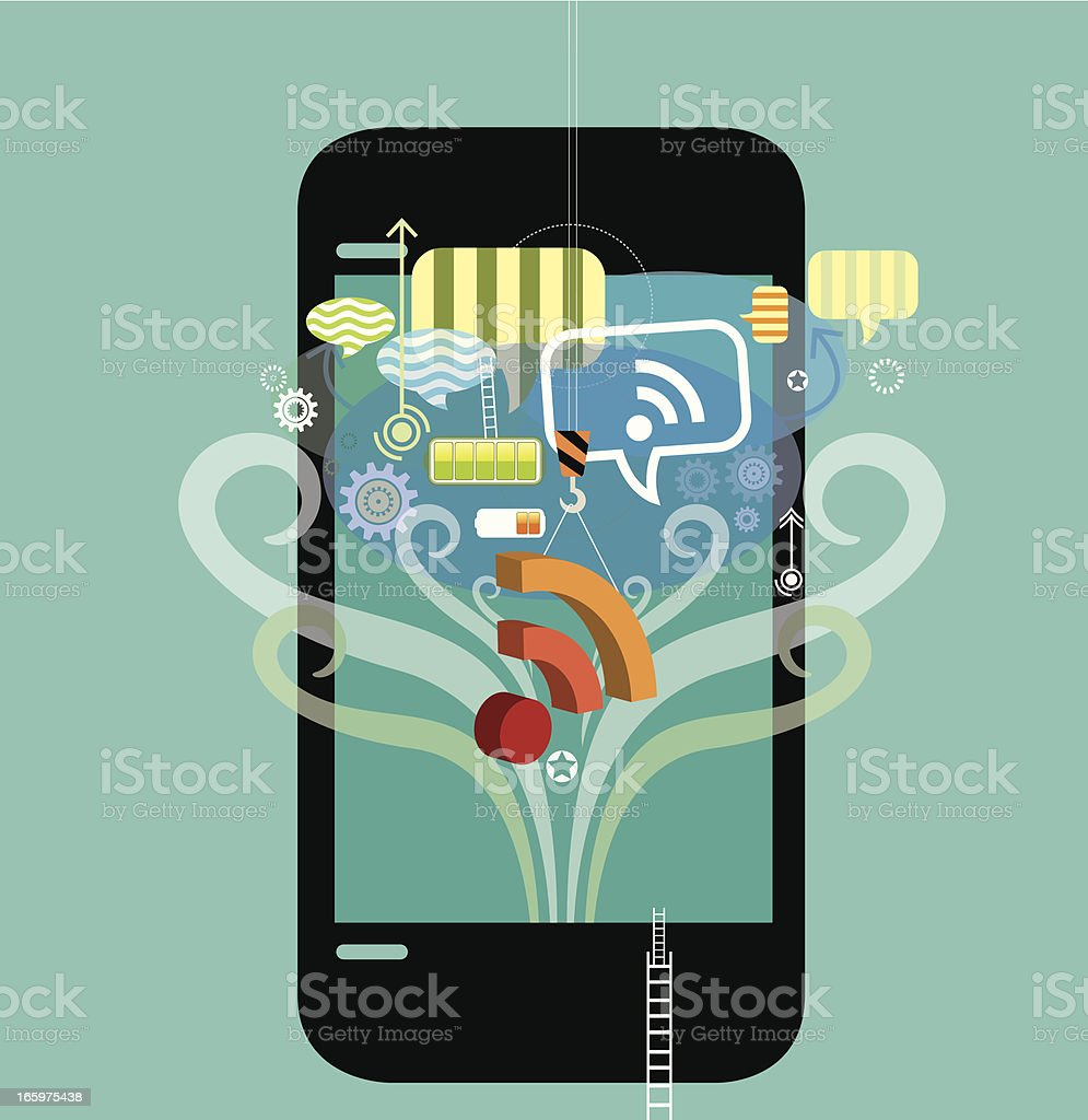 Mobility with Social community royalty-free mobility with social community stock vector art & more images of abstract