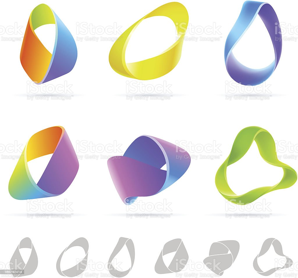 Mobius Colorful Abstract vector art illustration