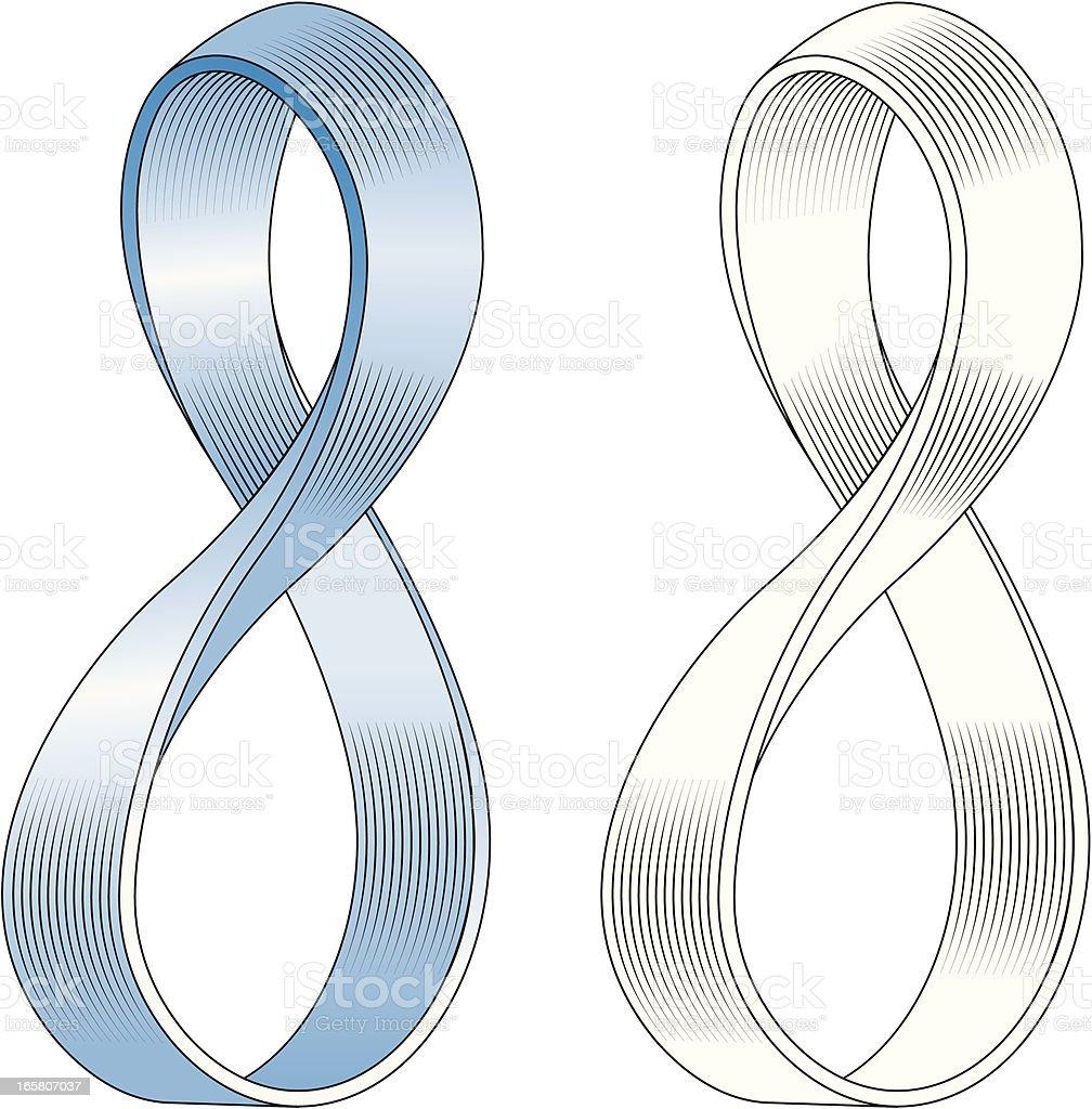 Mobius strip vector art illustration