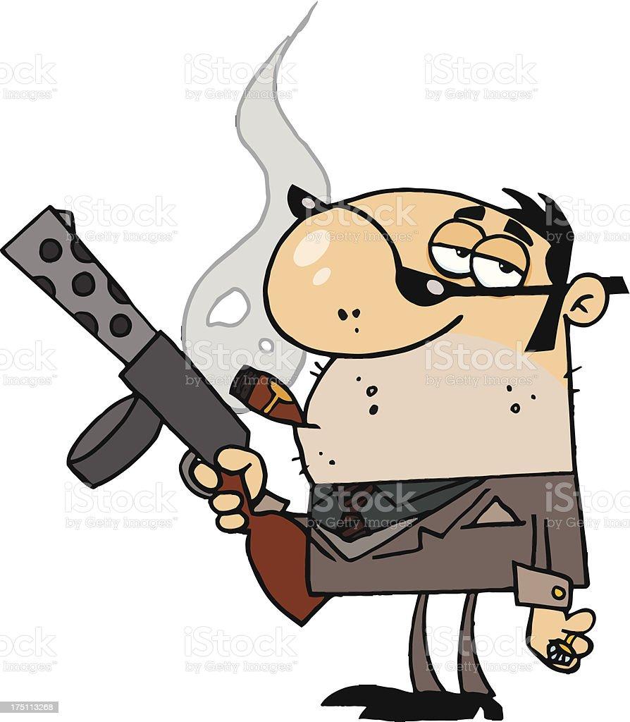 royalty free cartoon gangster smoking a cigar clip art vector rh istockphoto com gangster clipart images mafia gangster clipart
