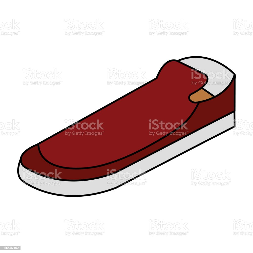 moccasins shoes isolated icon vector art illustration