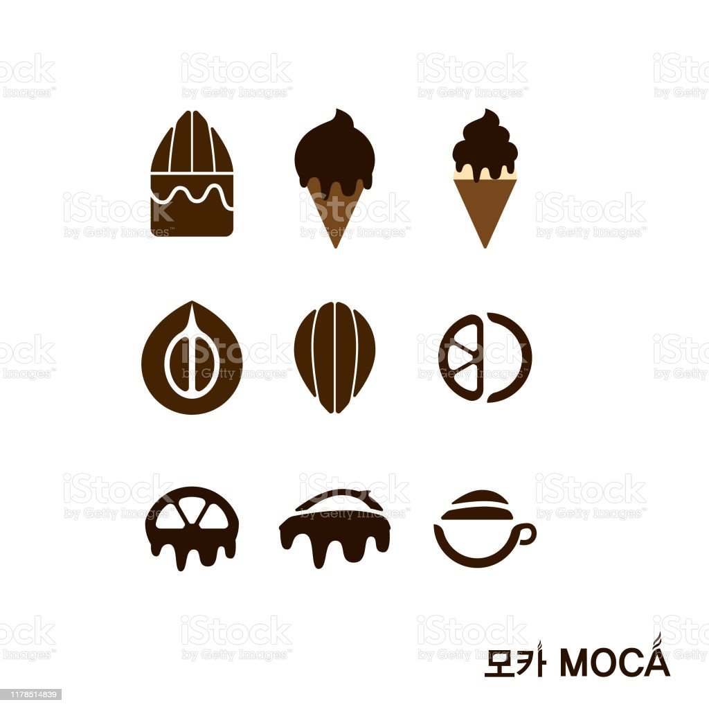 Mocha Icon Or Logo Mixed With Coffee Beans And Cacao Stock Illustration Download Image Now Istock