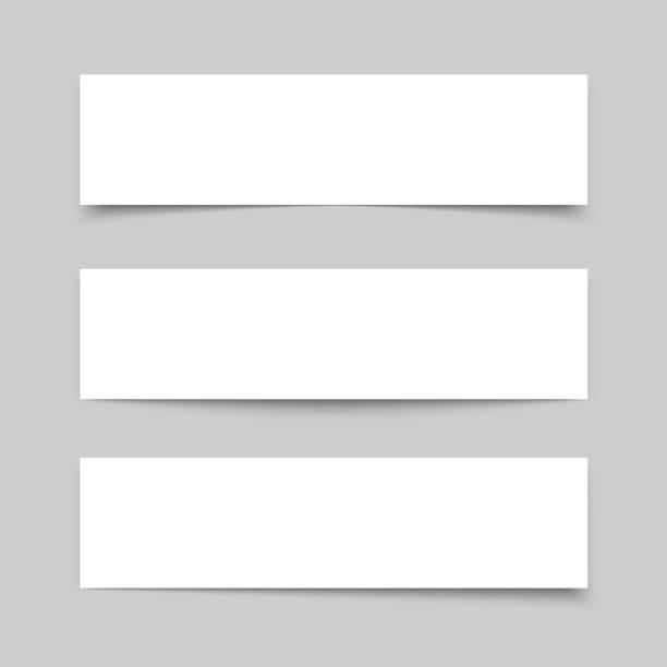 mock up banner - тень stock illustrations
