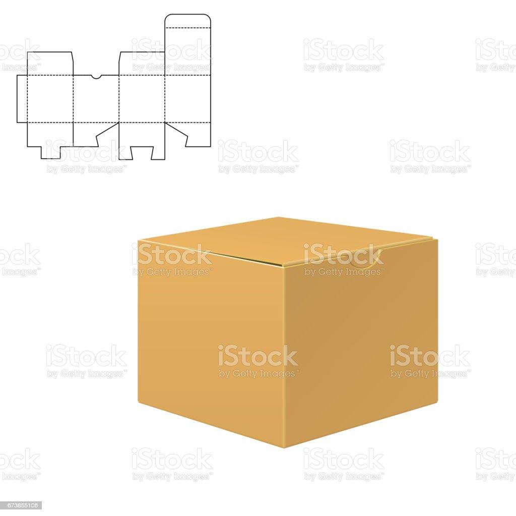 Mock up Clear Box vector art illustration