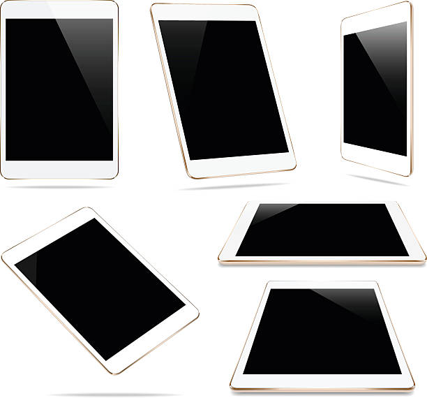maquette d'or tablette seul sur une image vectorielle blanche conception - Illustration vectorielle