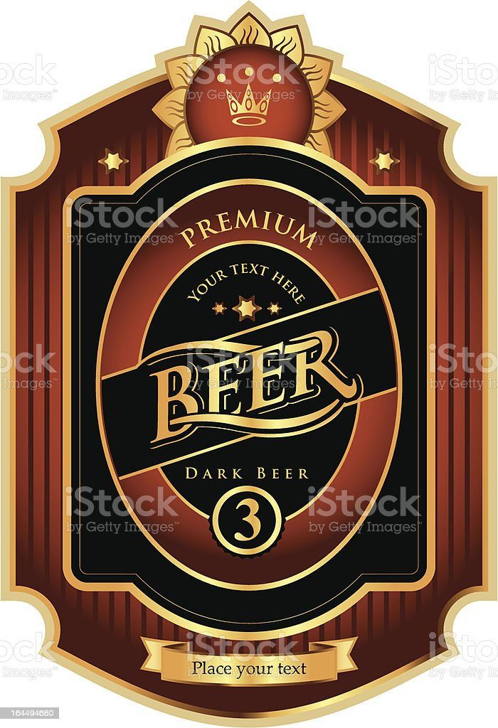 A mock up of a potential beer label royalty-free stock vector art