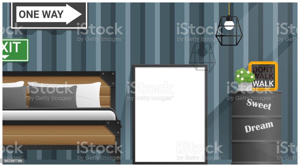 Simulacros De Fotograma De Póster En La Habitación Interior Fondo ...