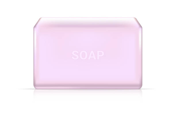 3d 模擬逼真的純度肥皂棒化妝品廣告設計背景插圖。醫療和醫療概念設計。 - bar 幅插畫檔、美工圖案、卡通及圖標