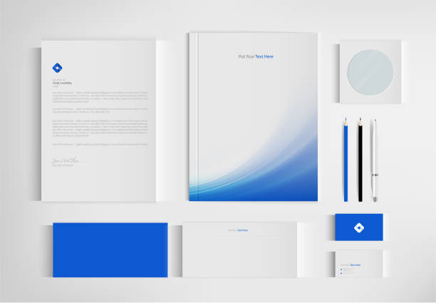 Mock up set business brand template of stationery. vector design. Mock up set business brand template of stationery. vector design. stationery templates stock illustrations
