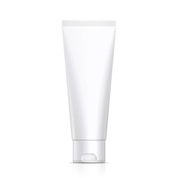 Mock Up Tube Of Cream Or Gel Grayscale White Clean. Products On White Background Isolated. Ready For Your Design. Product Packing. Vector EPS10 Mock Up Tube Of Cream Or Gel Grayscale White Clean. Products On White Background Isolated. Ready For Your Design. Product Packing. Vector EPS10 tube stock illustrations