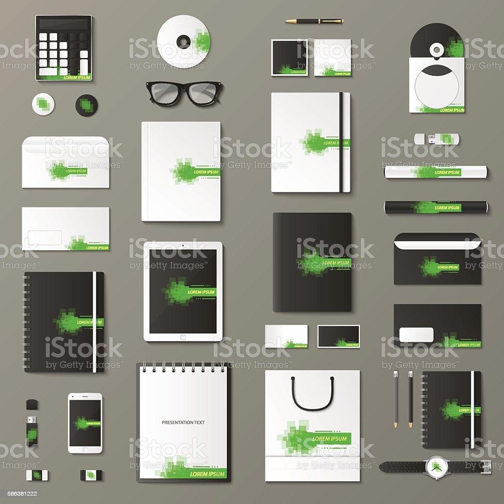 Mock up vector set. vector art illustration