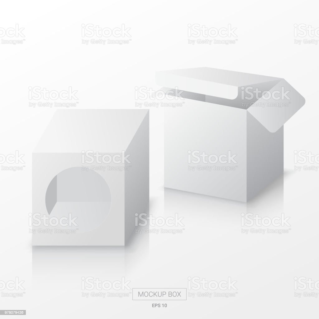 mockup box template vector blank square box template for package
