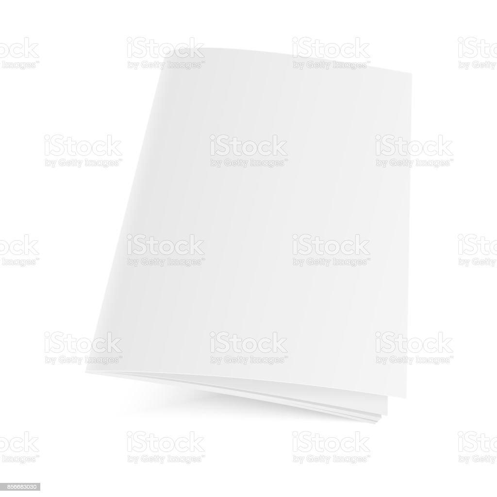 Mockup closed magazine, journal, booklet, postcard, flyer, business card or brochure . Vector Illustration vector art illustration