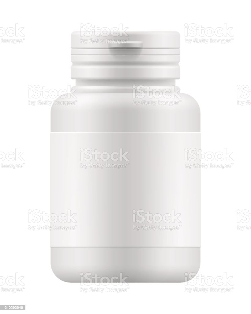 mock-up container for medication vector art illustration