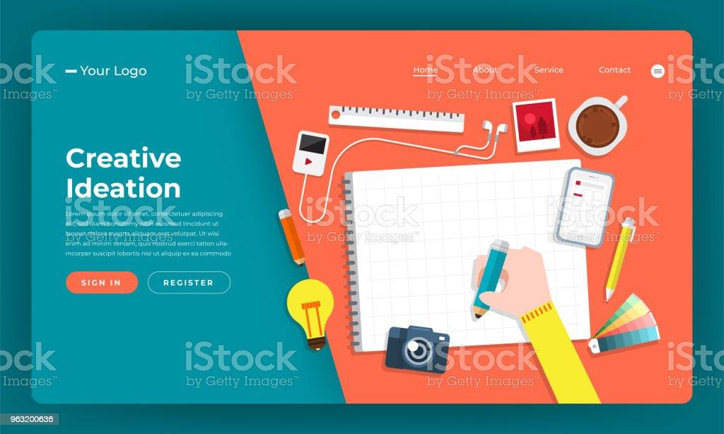 Mockup Design Website Flat Design Concept Creative Idea Thinking
