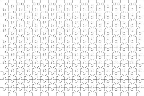 モックアップジグソーパズル3:ゲーム内ジグソーパズルオーバーレイのための2アスペクト比 - パズル点のイラスト素材/クリップアート素材/マンガ素材/アイコン素材