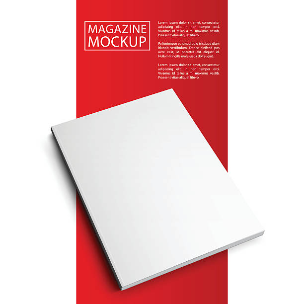 ilustraciones, imágenes clip art, dibujos animados e iconos de stock de mockup magazine red line7-01 - sonrisa sarcástica