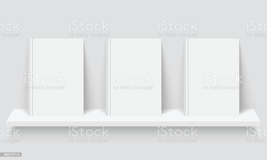 Mockup of books. vector art illustration