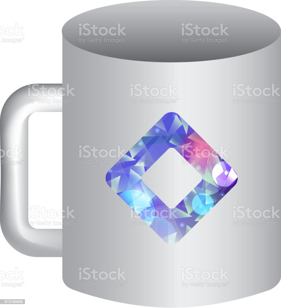 Mockup Of Corporate Ceramic Mug Template For Branding Identity And ...