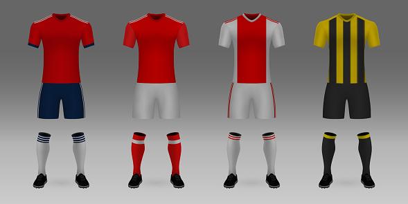 Mockup of football team uniform