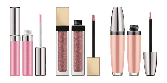 Mock-up of realistic lip gloss