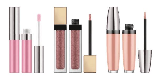 mock-up of realistic lip gloss - błyszczyk stock illustrations
