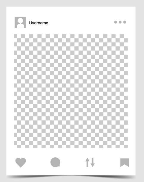 mockup of social network photo frame - whatsapp stock illustrations, clip art, cartoons, & icons