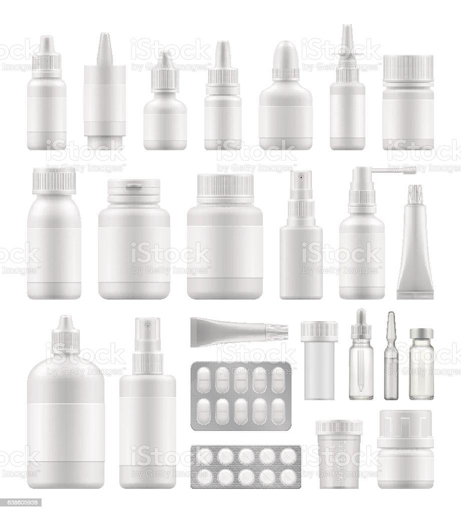 Mock-up of white plastic packaging vector art illustration