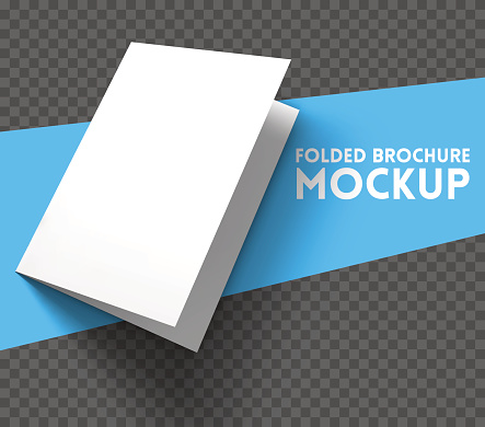 Mockup on transparent background. Vector Illustration.