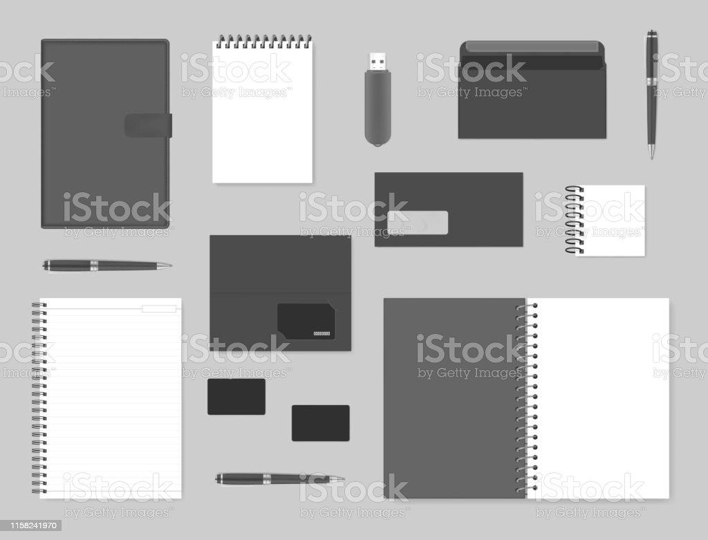 Mockupset Für Corporate Brand Identity Design Notebooks