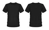 istock Mockup template, men black t-shirt short sleeve 1281631373