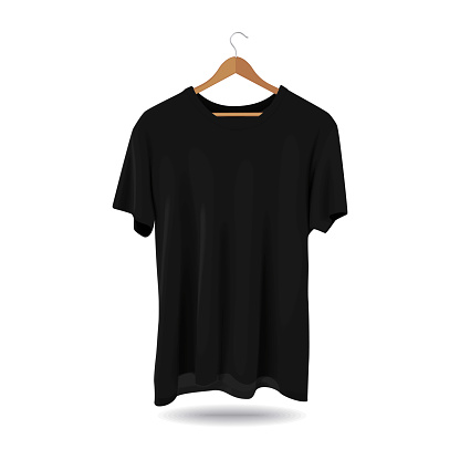 Mock-up T-shirt Sport Template Advertising Store Fashion Casual Apparel Black