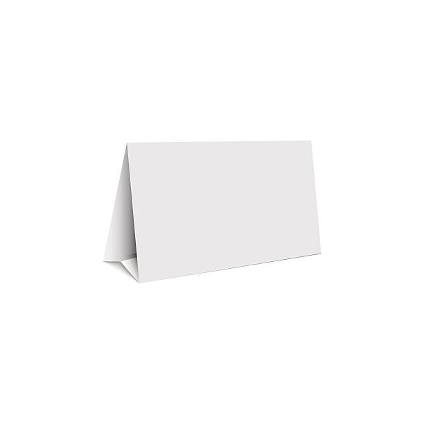 mockup white blank promotion banner holder, isolated table stand - wystawa sklepowa stock illustrations