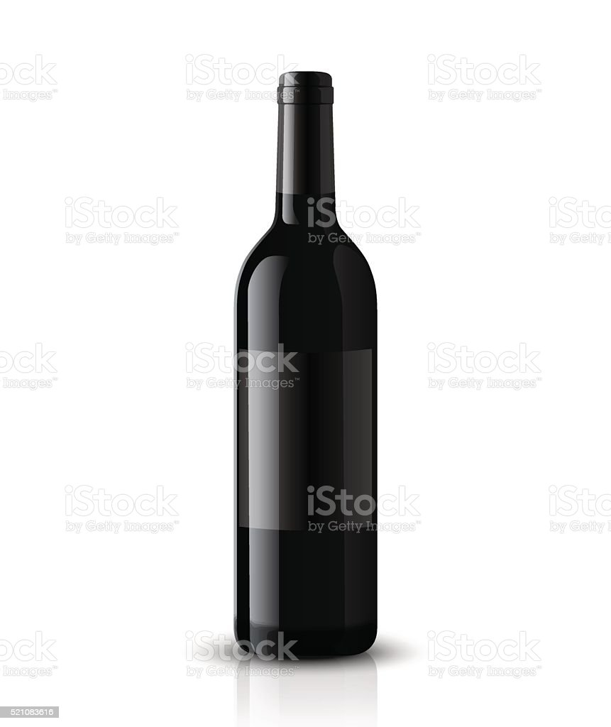 Mockup wine bottle. vector design. vector art illustration