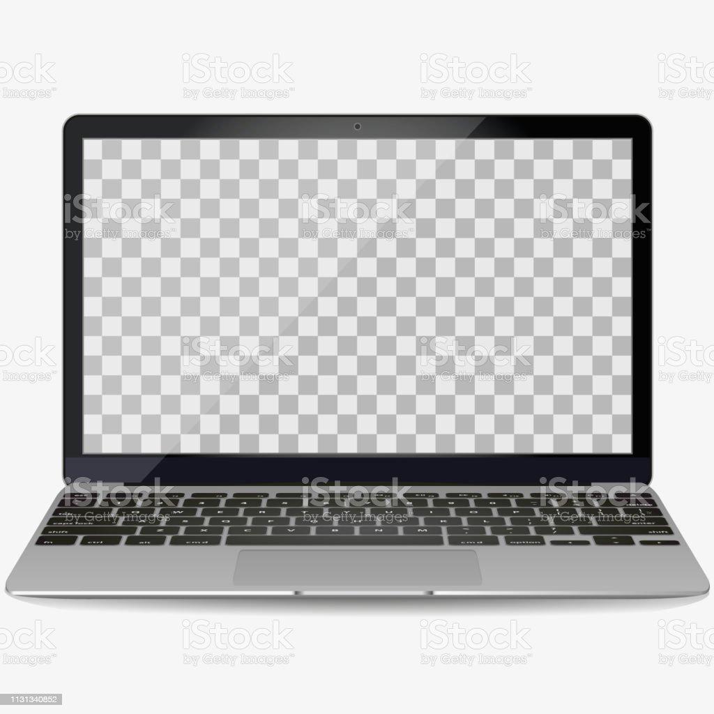 Vector blank clavier d'ordinateur. Vue de dessus et vue en
