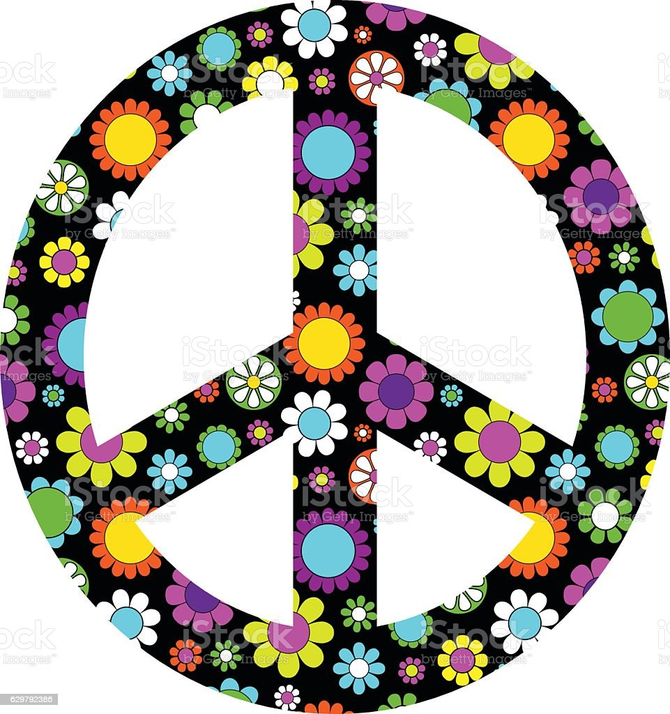 Mod flower peace sign stock vector art more images of 1960 mod flower peace sign royalty free mod flower peace sign stock vector art amp buycottarizona