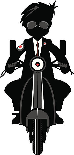 mod auf rollstuhl in silhouette - parkas stock-grafiken, -clipart, -cartoons und -symbole
