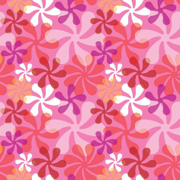 Mod Pattern in Pink vector art illustration
