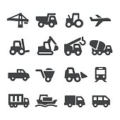 Mode of Transport and Construction Icons - Acme Series